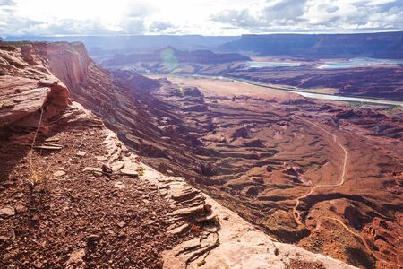 Sandstone formations in Utah, USA. Imagens