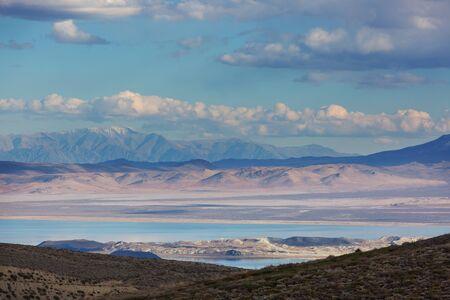 Unusual Mono lake formations in autumn season
