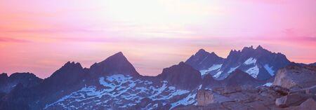 Scenic Sunset in the mountains. Autumn season. Stok Fotoğraf