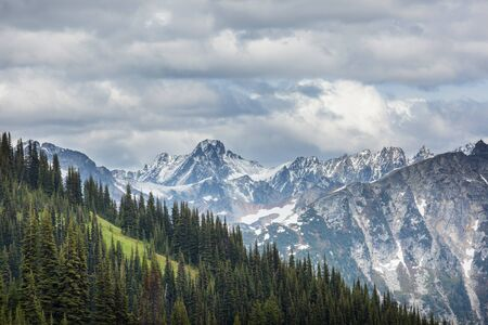 Beautiful mountain peak in  North Cascade Range, Washington  USA