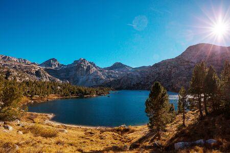 Scenic view of Sierra Nevada Mountain. fall foliage landscape. California,USA.