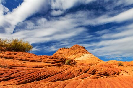 Sandstone formations in Utah, USA. Beautiful Unusual landscapes. 스톡 콘텐츠
