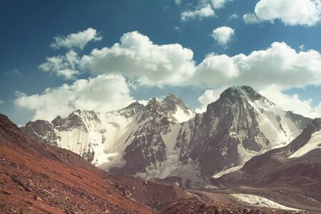 Beautiful high mountain in Pamir 스톡 콘텐츠