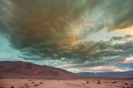 Dry Deserted landscapes in Death valley National Park, California Banco de Imagens
