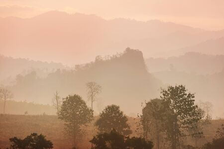 Rural landscapes in Northern Thailand Stock Photo