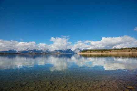 Grand Teton National Park, Wyoming, USA. 스톡 콘텐츠
