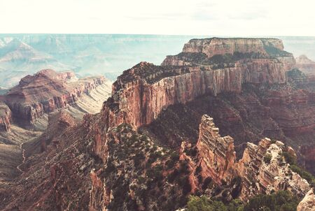 Picturesque landscapes of the Grand Canyon, Arizona, USA. Beautiful natural background.