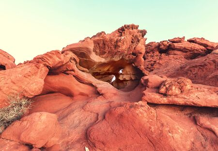 Valley of Fire State Park, Nevada, USA. Unusual natural landscapes. Stock Photo