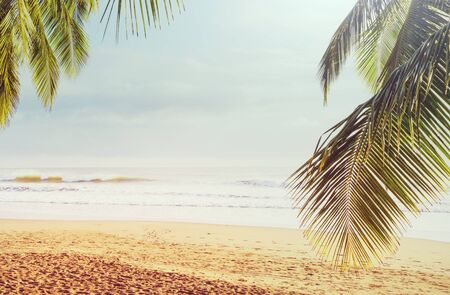Beautiful tropical Pacific Ocean coast in Costa Rica Imagens