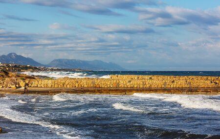 Beautiful beach in  Northern Cyprus