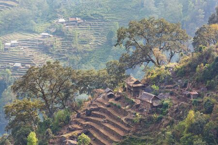 Village in the Nepalese mountains
