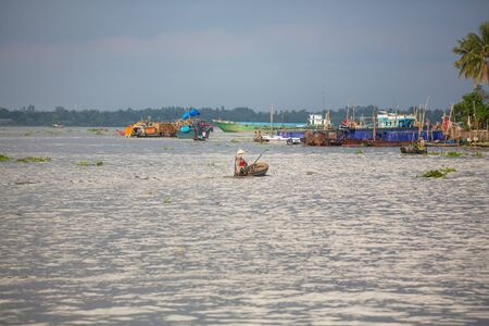 Fishing boats in Kep, Cambodia Stok Fotoğraf