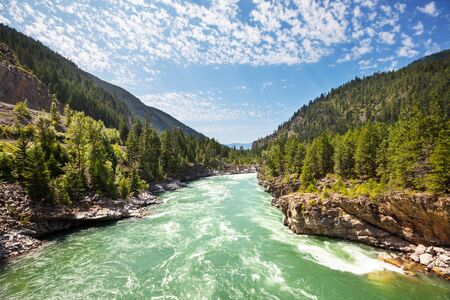 Beautiful Kootenai River in Montana, USA