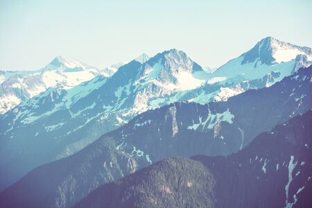 Beautiful mountain peak in North Cascade Range, Washington / USA