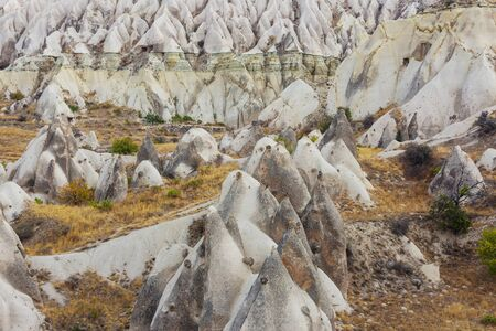 Unusual rock formation in Cappadocia, Turkey