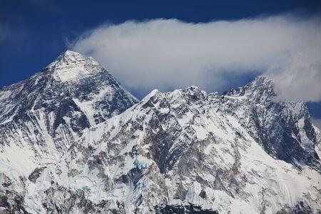 Mount Everest from Kala Patthar, way to mount Everest base camp, khumbu valley, Nepal Stock Photo