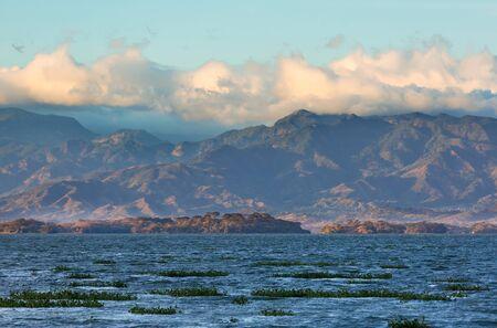 Coatepeque lake view, Santa Ana, El Salvador, Central America