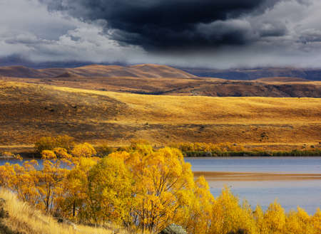 The beautiful lake in Autumn season