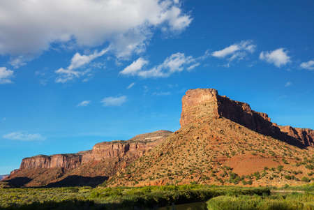 American landscapes- prairie and cliffs, Utah,  USA. Imagens
