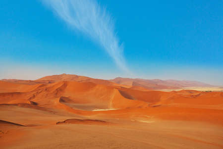 Orange sand dunes of Namib Desert, Namibia, Africa
