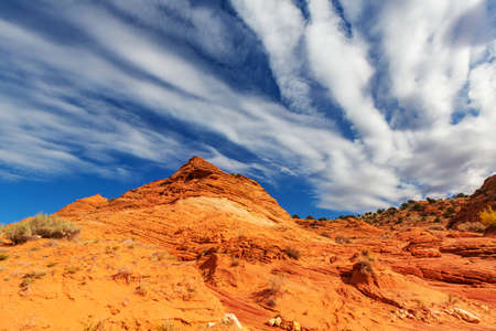 Sandstone formations in Utah, USA. Beautiful Unusual landscapes. Imagens
