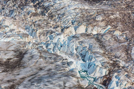 Giant Glacier in high mountains Imagens
