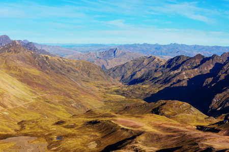 Landscape of high mountain in the Andes, near Huaraz, Peru