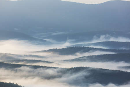 Beautiful natural landscapes in Carpathian mountains