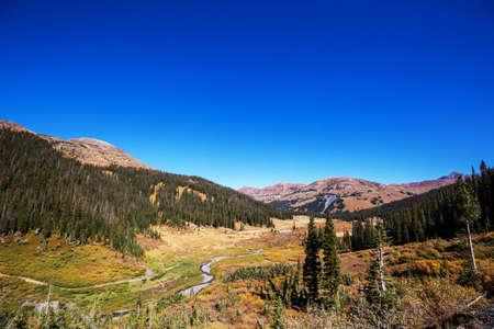 Mountain Landscape in Colorado Rocky Mountains, Colorado, United States. Фото со стока