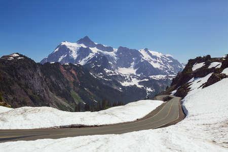 Mt Baker recreational area in summer season Фото со стока