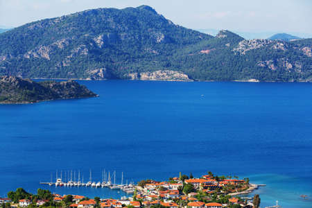 Beautiful sea coast  in Turkey. Amazing natural landscapes along Lycian hiking way.