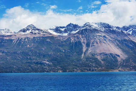 Beautiful mountains landscape along gravel road Carretera Austral in southern Patagonia, Chile