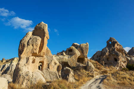 Unusual rock formation in famous Cappadocia, Turkey