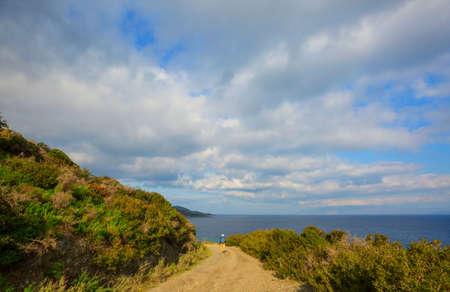 Beautiful landscapes on the Carian trail. Aegean Sea, Turkey. Stockfoto
