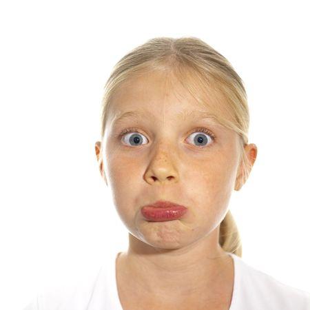 disillusioned: Expressive faces Stock Photo