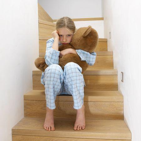 young girl going to sleep Stock Photo
