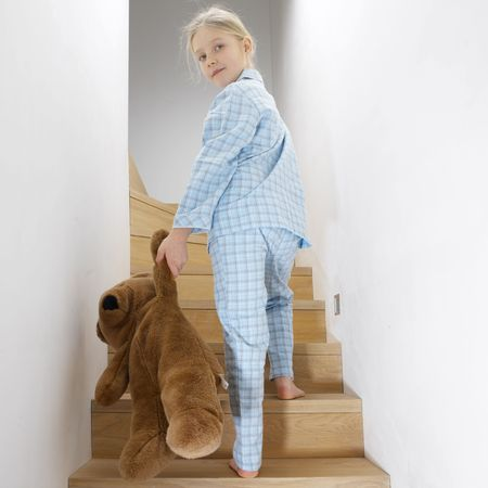 young girl going to sleep Stock Photo