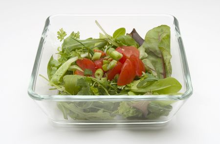 Salad bowl Stock Photo