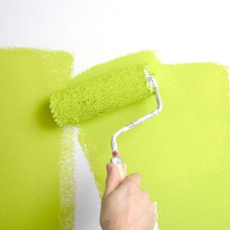Malerei eine Wand im Fr�hjahr Farben  Lizenzfreie Bilder