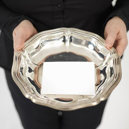 silberne Platte