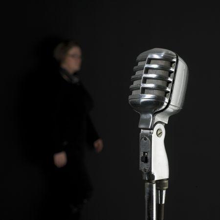 jazz music: vintage microphone