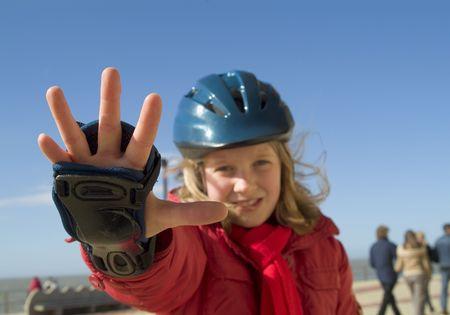 speed skating: skating girl