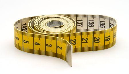corpulent: measuring tape Stock Photo