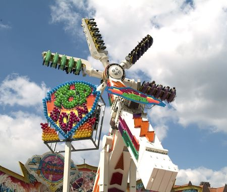 Spinner at the funfair (blue sky) Stock Photo