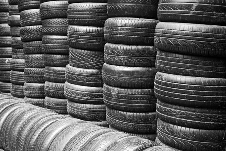 car tyres for recycling Stock Photo