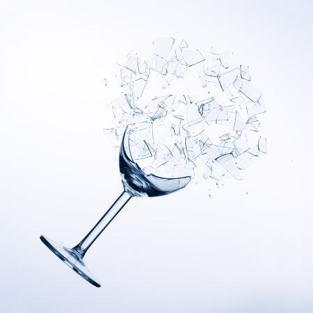 gefallen Glas Wein