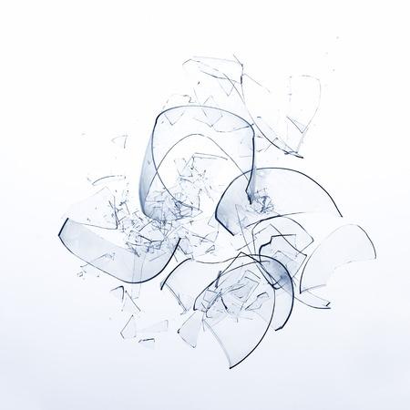 gebrochen Glas Wein (close-up)