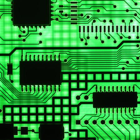 componentes: circuito electr�nico, semi conductor (macro)  Foto de archivo