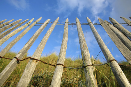 wooden fence, blue sky Stock Photo - 1694645