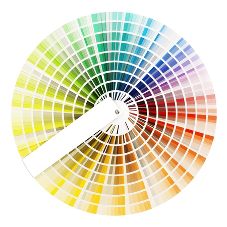 color swatch wheel isolated on whote Stock Photo